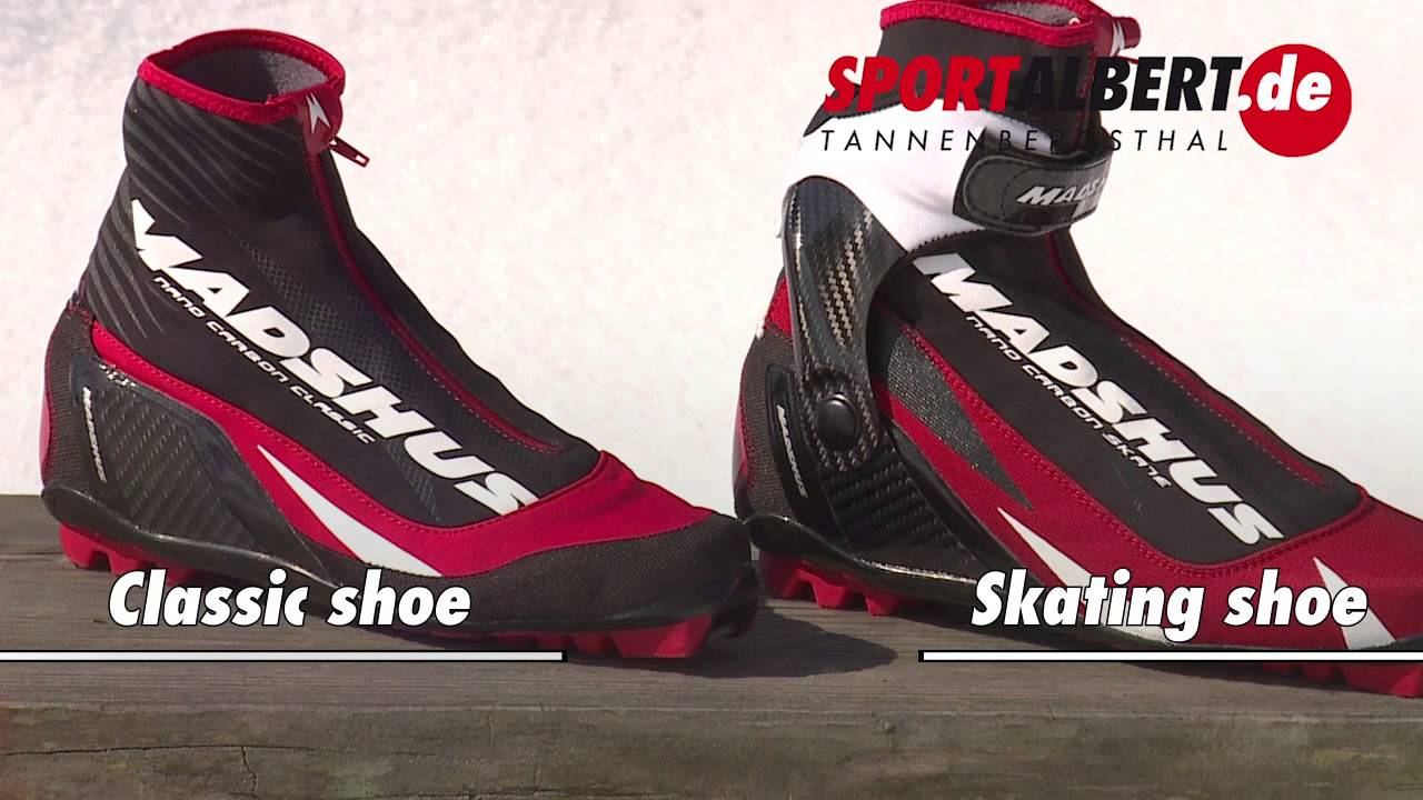 Skate shoes difference - Material Differences In Cross Country Skiing Classic And Skating Youtube