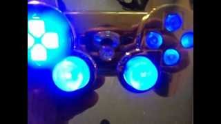 *Custom oldies console* modded playstation dualshock **Blue gold** PS3.AVI
