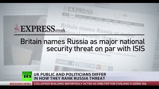 'Aggressive Behavior': Some British politicians still see Russia as bigger threat than ISIS