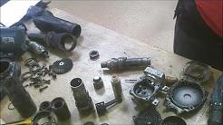 how to repair makita demolition hammer HM0860 assemble gears armature