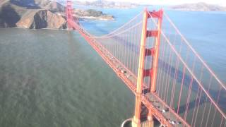 Helicopter ride UNDER and over the Golden Gate Bridge