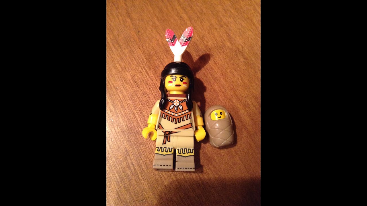Lego tribal woman minfigure with baby series 15