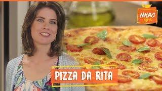 Pizza de muçarela com tomate e manjericão | Rita Lobo | Cozinha Prática