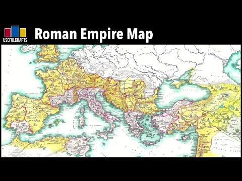 Roman Empire Map (Senatorial vs Imperial Provinces)