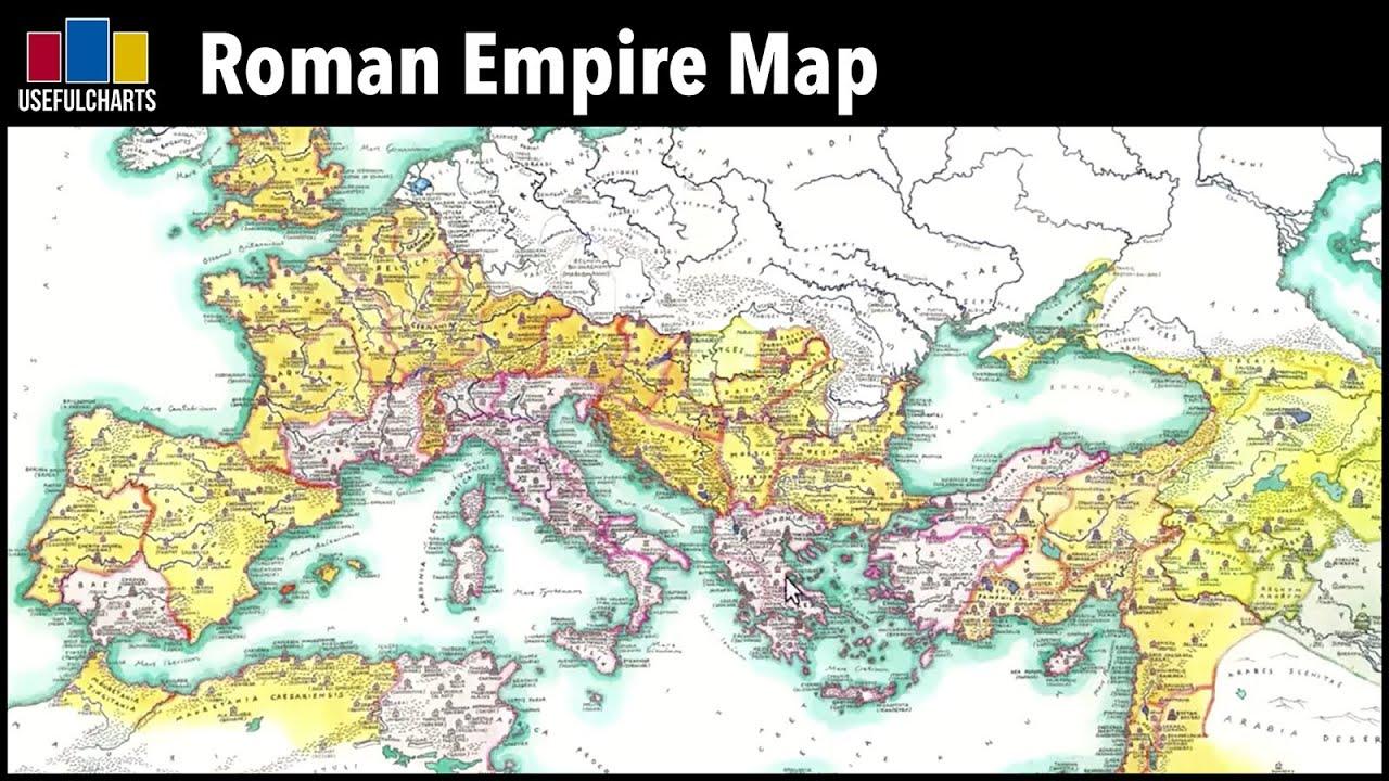 Roman Empire Map Senatorial Vs Imperial Provinces Youtube