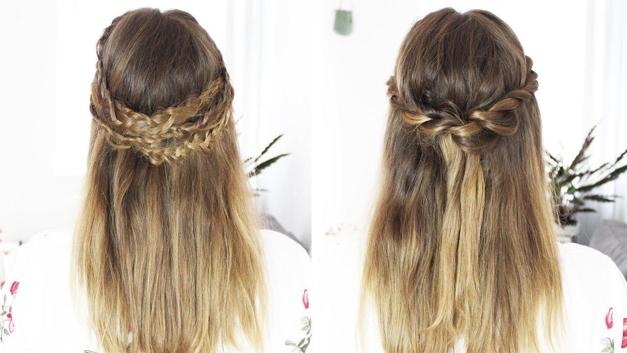 2 SUPER halboffene Frisuren  Frisurenfreitag