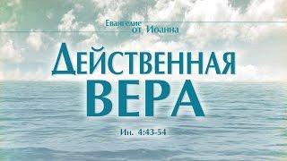 """Проповедь: """"Ев. от Иоанна: 27. Действенная вера"""" (Алексей Коломийцев)"""