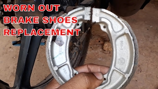 HOW TO REPLACE BRAKE SHOES OF MOTORCYCLE (DRUM TYPE)?