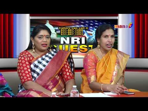 NRI Guest with Team of New Jersey Bathukamma  || Mana Tv ||