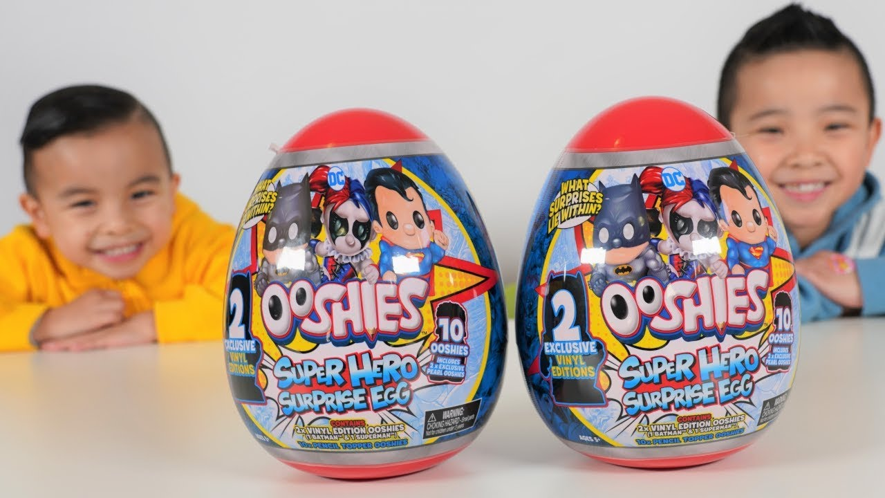 Giant Superhero Ooshies Surprise Egg Opening Fun CKN Toys