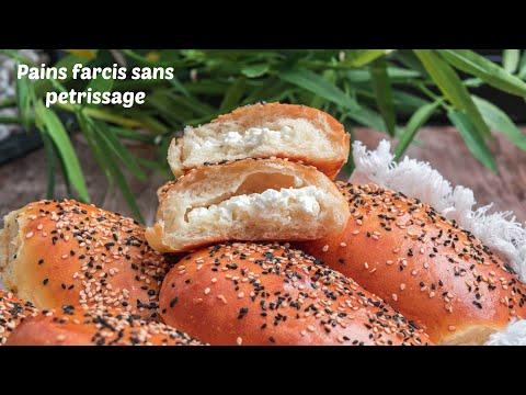 les-minis-pains-farcis-sans-pétrissage,-recette-rapide
