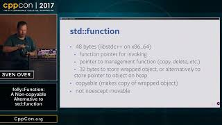 CppCon 2017 folly  Function  A Non copyable Alternative to std  function