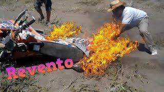 Motos Reventando Motor y Prendiéndose Fuego 2018