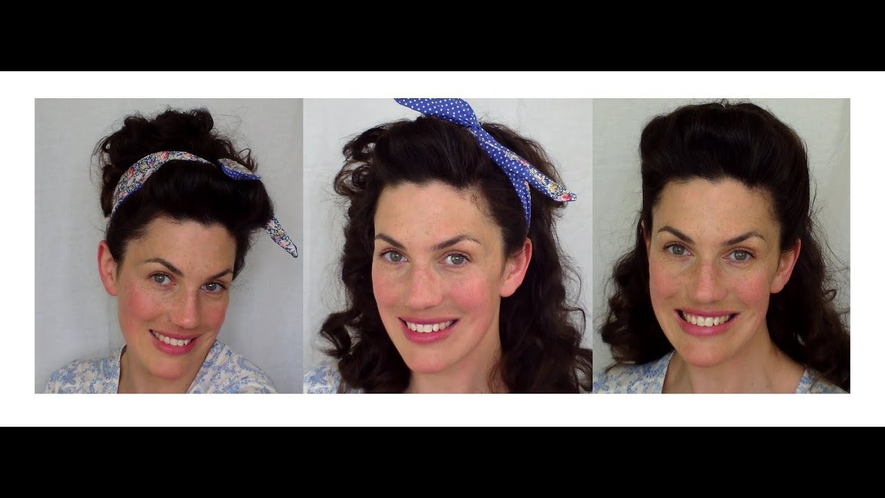 BACK to SCHOOL EASY vintage RETRO inspired HAIRSTYLES - YouTube