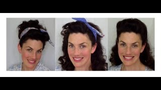 BACK to SCHOOL EASY vintage RETRO inspired HAIRSTYLES - Fitfully Vintage