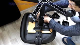 видео Ремонт кресел | Как перетянуть офисное или компьютерное кресло