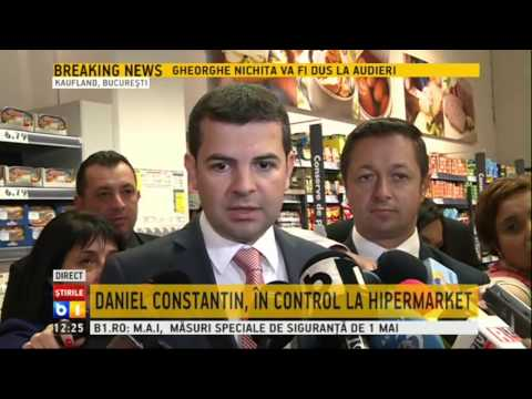Daniel Constantin in vizita la hipermarket
