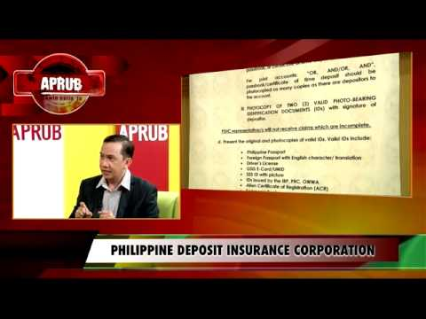 APRUB - Philippine Deposit Insurance Corporation part 3 of 4