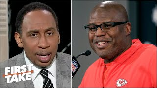 Stephen A. makes the case for Eric Bieniemy coaching the Texans | First Take