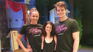 Merengue class with cast of Dirty Dancing on Stage