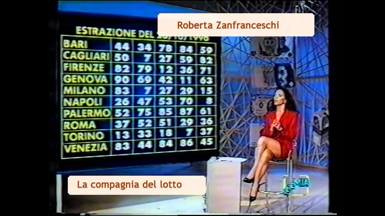 roberta zanfranceschi presenta estrazioni del lotto in