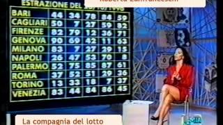 Roberta Zanfranceschi presenta estrazioni del Lotto in diretta