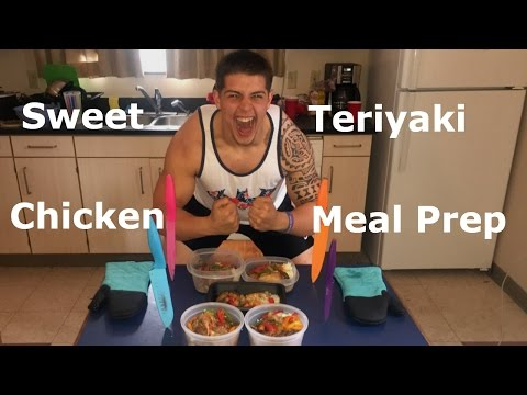 SWEET TERIYAKI CHICKEN MEAL PREP RECIPIE *LOW CALORIE LOW FAT*