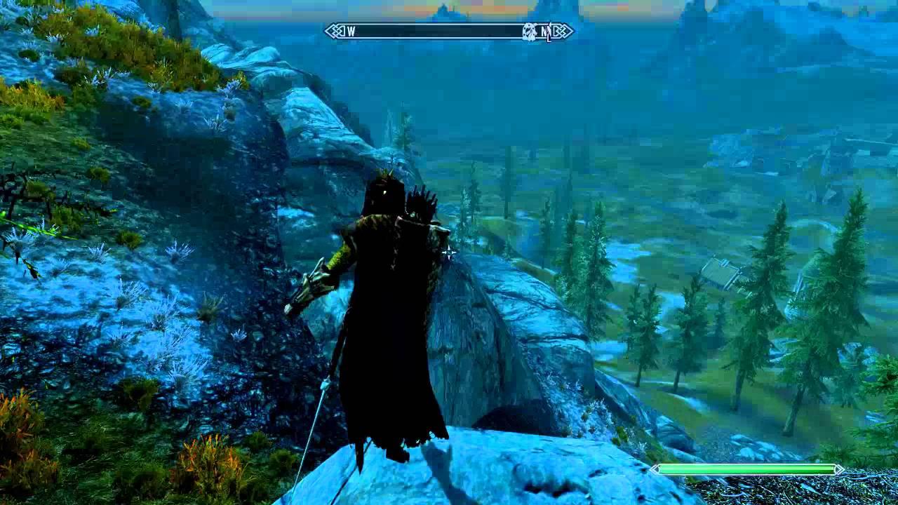 Skyrim Drowned 3: Splashing in Mid-Air (Flickering Water 2)
