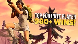 TOP FORTNITE PLAYER // 980+ WINS // PRO FORTNITE PLAYER