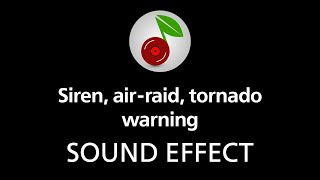 Siren, air raid, tornado warning, sound effect