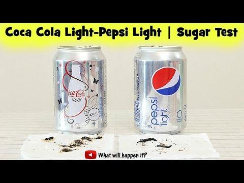 Boiling Coca Cola Light and Pepsi Light | Sugar Test comparison (Full Range)