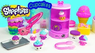 Shopkins Season 3 Playset Cupcake Collection Food Fair Exclusive Cake Pop Display Toy Video Unboxing