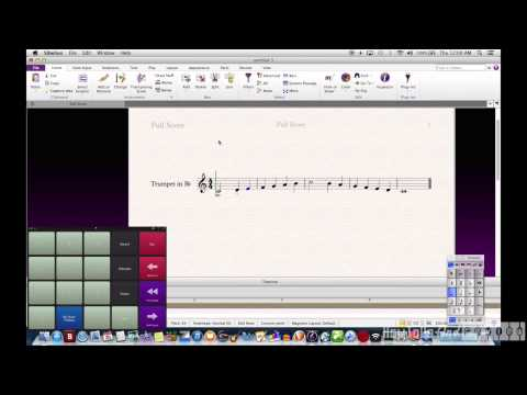 Using iPad for Sibelius Input (Actions)
