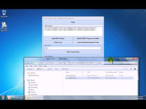 How To Use MP3 Search Tags In Multiple Files Software