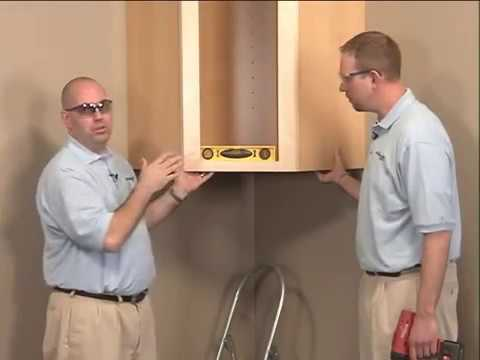 wall cabinet - aristokraft cabinet installation - youtube