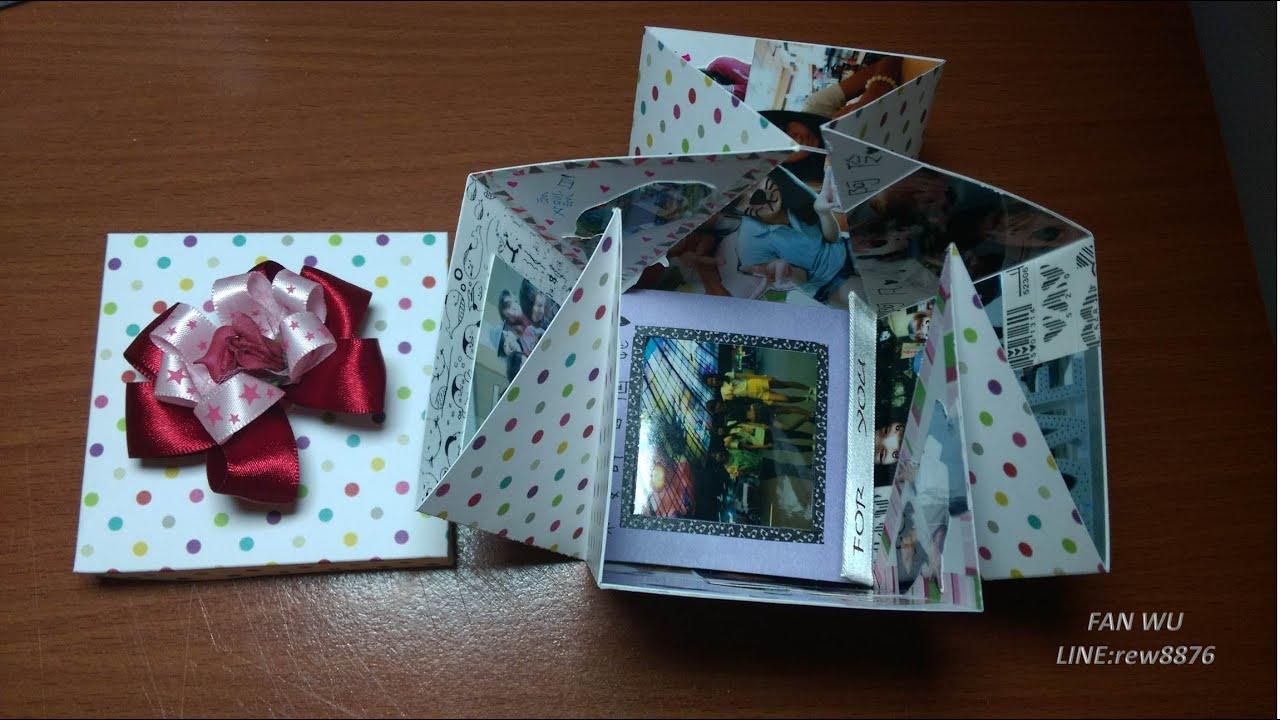 手工卡片/是禮物盒也是卡片/阿凡手作 - YouTube