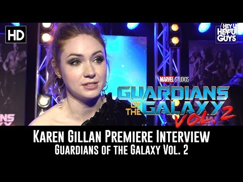 Karen Gillan Premiere Interview - Guardians of the Galaxy Vol. 2