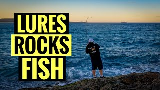 LURE FISHING FOR TAILOR (BLUEFISH) OFF THE ROCKS