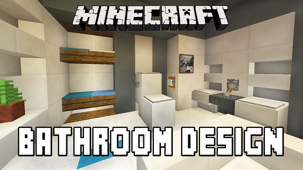 Minecraft tutorial how to build a modern house ep 7 for Bathroom designs minecraft