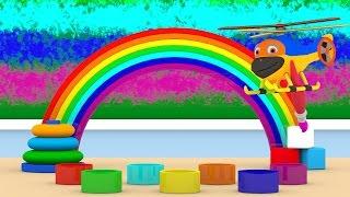 Уроки з Винтиком 3D - Кольори - Веселка – Розвиваючі мультфільми