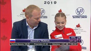 Alexandra TRUSOVA RUS FREE SKATE 2019 SKATE CANADA