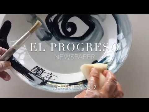 La artista Pepa Poch, en El Progreso A Mariña