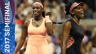 Venus Williams vs Sloane Stephens Full Match | US Open 2017 Semifinal
