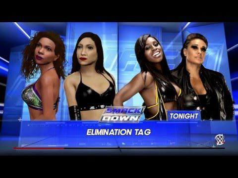WWE 2K16 Junie Hoang & Rachel True Vs Team Bad