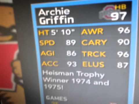 NFUT14:Archie Griffin Heisman winner card!!!!!!