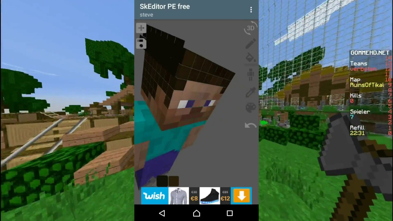 Minecraft PE Server Selber Erstellen Und Skin Selbst Pixeln Skins - Minecraft pe server selber erstellen