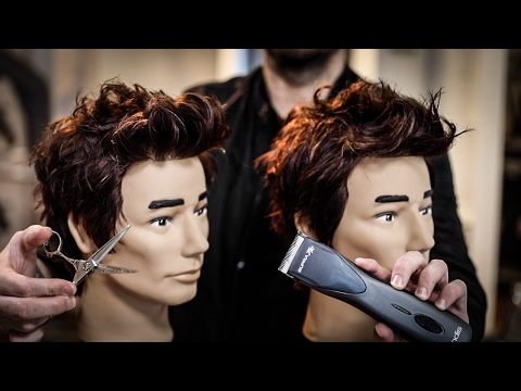 grown out mens haircut tutorial  clippers vs scissors