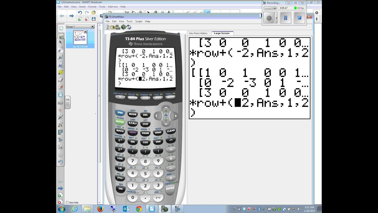 how to find matrix on graphing calculator