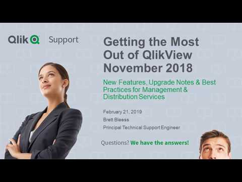 Getting the Most Value Out of QlikView November 2018
