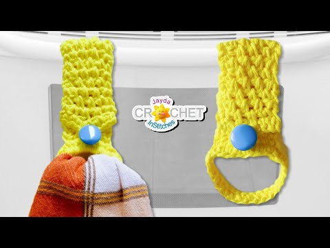Tea Towel Holder Moss Stitch Crochet Pattern Youtube